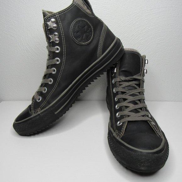 Converse Chuck Taylor Hiker High Top Gray Black Sneakers Men's 9 Women's 11